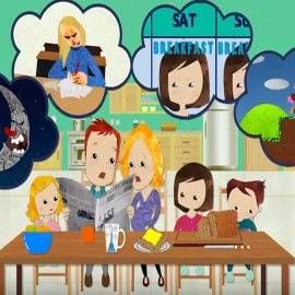 Animated 2D Textured TV Family Commercial